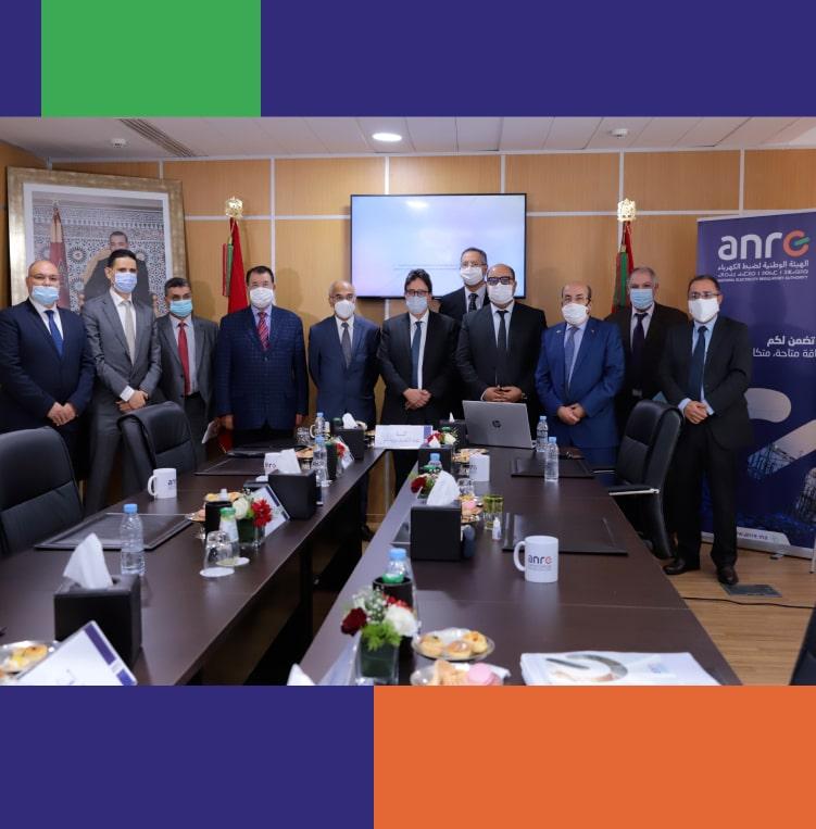 Tenue du premier Conseil de l'Autorité Nationale de Régulation de l'Electricité sous la présidence de M. Abdellatif BARDACH