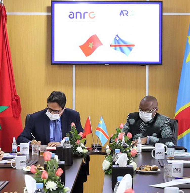 Signature d'un accord de coopération entre l'ANRE du Maroc et l'ARE de la RDC